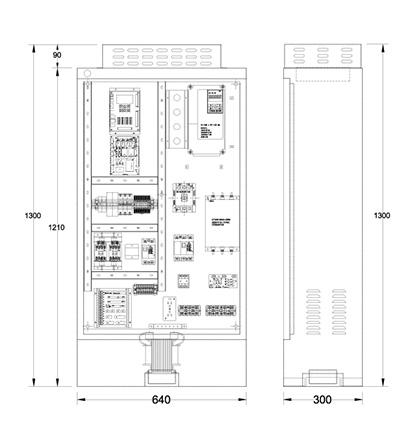 制御盤(ELCON-10)の図面